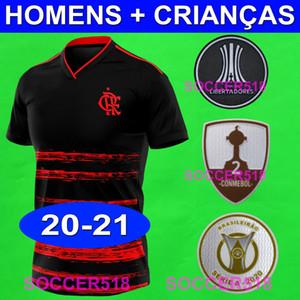 2020 2021 Maillots de foot Flamengo GABRIEL BARBOSA BRUNO HENRIQUE kits enfants femme DIEGO MANCUELLO VINICIUS JR maillots de foot flamengo CR maillot de foot
