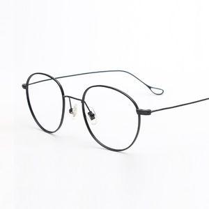 -138 Titanium Glasses Eyewear Retro ultra-light thin temple  optical myopia Women eyeglasses frames eyewear computer goggle