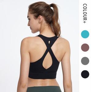 lulu Kadınlar Sport Sütyen Konfor Seemless Yoga Güzellik Cep geri Üst Activewear Bayanlar Spor Giyim yelek Egzersiz Fitnes Giyim l emon yoga outfi