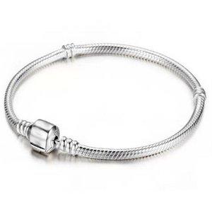 3mm Schlangenkette Pandora-Armbänder 925 Sterling Silber Schmuck Geschenk-passende Charme-Korn-Armband-Armband für Männer Frauen 16 17 18 19 20-23cm