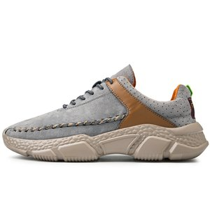 Men Sneakers PU Leather Casual Shoes Comfortable Massage Soles Fashion Men Leather Shoes Footwear Plus Size