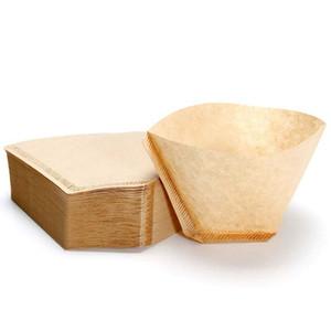 100 Pezzi Eco-Friendly greggi originale in legno a mano Drip Paper Coffee Brewer 102 Coffee Filter Bag Maker