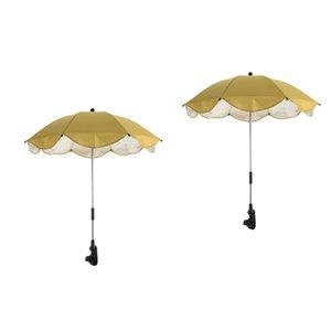 2 개 정원 일 파라솔, 패티오 양산 UV (40) 우산 캐노피 발코니 테라스 비치 카페 그늘