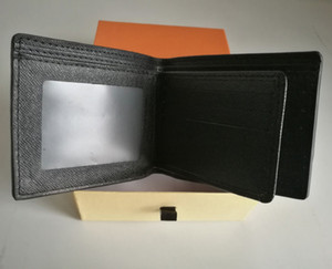 Дизайнер мужского бумажника известных мужчин пар бумажники специального пу несколько короткого небольшого бумажника с Двойных коробками, Франция пара кошелька