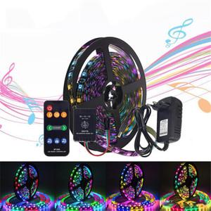 음악 통제 꿈 색깔 LED 지구는 음악 먼 관제사 12V3A 전력 공급을 가진 WS2811LED 지구 빛 5050RGB DC12V 를 놓았습니다