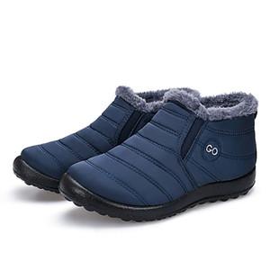 Warm Plush Men Boots 2019 Fashion Slip on Waterproof Boots Men Shoes Comfort Winter Boots Men Winter Footwear Zapatos De Hombre