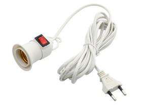 4M Elektrik Kablosu Bağımsız Düğmesi Anahtarı AB Tak E27 Vidalı Arayüz Lamp Holder ile E27 Üs