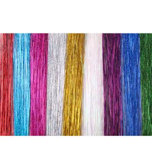 200pcs colorido metálico del brillo del oropel de la fibra láser Suministros peluca de la extensión del pelo Accesorios etapa del partido de la peluca festivos