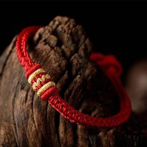 2020 Lucky Red String Rope Handmade Bracelet Men Charm Braided Red Thread Bracelets For Women Tibetan Buddhist Bangle Luxury Jewelry