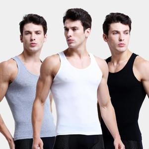 3pcs / lot dell'uomo 100% cotone solido biancheria intima senza giunte Undershirts Marca Abbigliamento Uomo Canotta Vest confortevole Undershirt