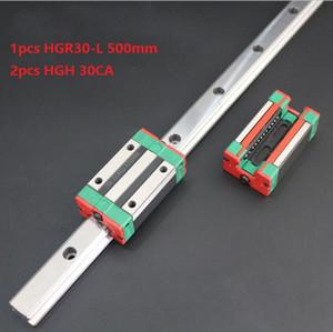 1 adet Orijinal Yeni HIWIN HGR30-500mm lineer kılavuz / ray + 2 adet HGH30CA lineer dar blokları için cnc router parçaları
