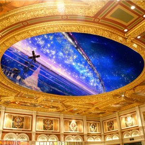Dropship 3D Photo Wallpaper Romantic Love Marriage Room Ceiling 3D Stars Milky Way Mural Background Wallpaper