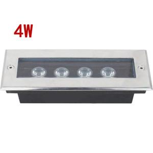 (10 adet / grup) L200 * W80 * H60MM Dikdörtgen 4 W Led Yeraltı Işık LED Bahçe Işık Açık Su Geçirmez IP67 Laminat Parke Lambası