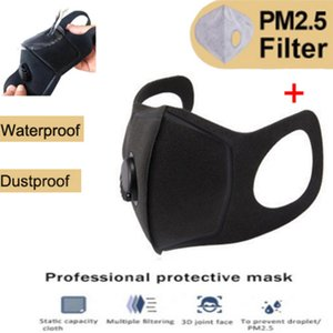 Protetor facial motocicleta Máscara Anti-Poluição filtro Sports Máscara PM 2,5 carvão ativado Respirar válvula MTB com filtros
