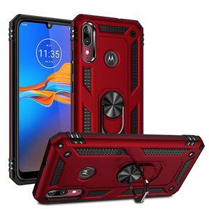 Hibrid Askeri Mıknatıs Çubuğu Vaka için Motorola Moto E6 Artı G7 G7 Güç LG K50 Q60 K40 LG Stylo5 Aristo2 oyna
