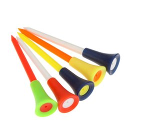 Sports Outdoors Plastic Golf Tees Multi Color 8.3CM Durable Rubber Cushion Top Golf Tee Golf Accessories Color Randomly