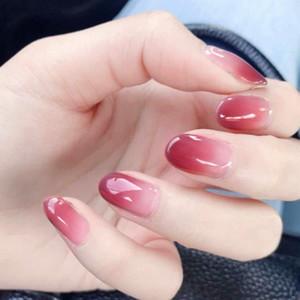 gradients 24 Gouache Pces 12 Taille Faux pièces Faux ongles en acrylique Conseils d'extension doigts Outils de manucure