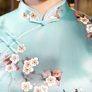 Pieno di elementi caratteristici cinesi Retro repubblicani tessuti di seta stile flora stampa stile casual fascino cheogsam
