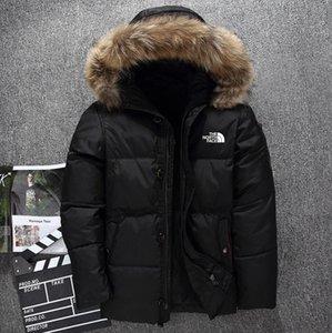 ropa nueva al norte El Invierno hombre chaquetas Parka Goose mantener caliente abajo cubre Soft Shell sombreros masculinos gruesa chaquetas de la prendas de vestir exteriores de la cara