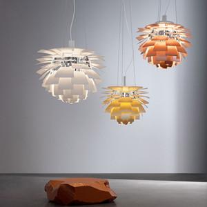 Pigna lampada a sospensione moderna carciofo pendente per ufficio / Sala riunioni / negozio / Mail alluminio Light Fixture 90-264V Indoor