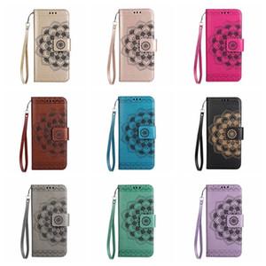 Nuova custodia a portafoglio in rilievo con tasca per card e bracciale per iPhone XS MAX custodia 7 plus Xr custodia Samsung S10 Galaxy Plus Note8