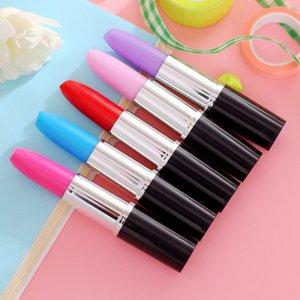 Lipstick Pen bonito esferográfica Kawaii Caneta Criativa Escritório Escola para o abastecimento dos desenhos animados Plastic Gel criativa para a menina do estudante