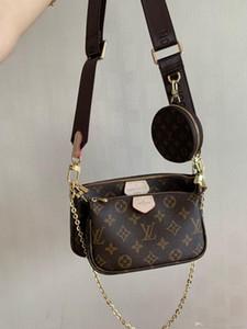 19 Dame Designer-Handtaschen berühmter Schulter LU-Beutel hohe Qualität echter Leder-Frauen-Einkaufstasche Business-Notebook-Umhängetasche Geldbeutel