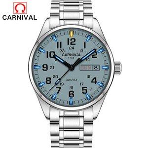 Relogio Masculino Carnevale Marca Settimana di lusso Data da polso al quarzo uomini impermeabile Tritium T25 luminoso Orologio Reloj Hombre 2020 T200620