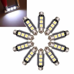 10X White 39mm Festoon Light 5050 3 SMD LED Canbus Error Free Car Interior Reading Roof Map Light Bulb Trunk License Plate Lamp