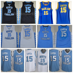 NCAA College 15 Vince Carter Trikot North Carolina Tar Heels Gymnasium Florida Daytona Beach Festland Basketball Trikots Carter Uniform
