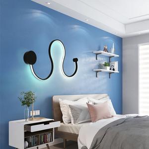 courbe S-moderne applique murale LED luminaires de forme snakelike S lumières pour couloir aisel salon décoration intérieure en aluminium MuraleMC Luminaire