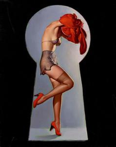 Gil Elvgren Pin Up Girls -2 Home Decor Artigianato / HD Olio Stampa pittura su tela di canapa di arte della parete della tela di canapa Immagini 200208