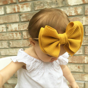 Us 942 14 Offgirls Nylon Headband Baby Hair Clip With Cute Flannel Bow Bb Head Band Kid Hair Accessories Baby Hair Bows hairclippers2011 GWa
