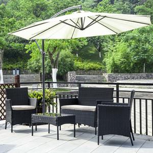Patio Furniture Set 4 Pcs Outdoor Wicker Sofás Rattan cadeira de vime Conversation