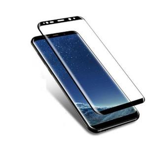 2019 Verre Trempé Courbé Pour SAMSUNG Galaxy S7 Bord S8 S9 Plus Note 8 9 Protecteur D'écran De Protection Complet Note9 Film De Protection En Verre DHL