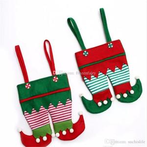 Нетканые ткани Рождество Эльф брюки чулок конфеты мешок дети X-mas партии украшения орнамент подарок cc71-78 2018052715