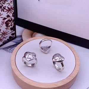 사랑 두려움 꽃과 새와 하트 모양의 반지 복고풍 트렌드 힙합 남성과 여성 반지에 대한 S925 스털링 실버 반지 블라인드