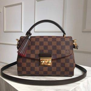 LOU1S VU1TTON N41581 CROISETTE Genuine leather women twist handbag messenger shoulder bag pockets Totes Shopping bags Backpack Key Wallets