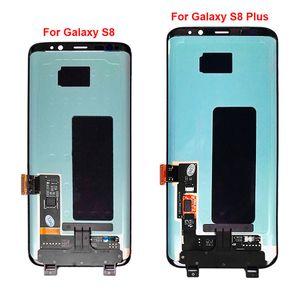 Original LCD für Samsung-S8 mit Rahmen Ersatz für SAMSUNG Galaxy S8 G950 G950F Anzeige S8 Plus-G955 G955F Touch-Screen-Digitizer