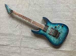 Sur mesure M-II FR-DLX bleu océan guitare électrique Seymour Duncan Micros pont Tremolo