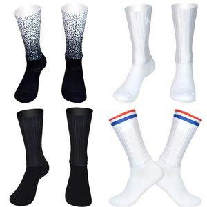 Calze Aero senza cuciture in silicone antiscivolo Calze da ciclismo traspiranti nuove estati Uomo Donna Bici da strada Calcetines Ciclismo