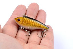 Fishing Lures 1Pcs 5cm 6g Sinking VIB Vibration Fishing Lure Wobblers Crankbaits Artificial Hard Rattle Baits With 8# Hooks Tackle