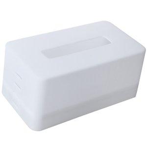 rectangular Plastic facial tissue napkin box toilet paper dispenser case holder home office decoration (white) 21.5*9.3*12cm