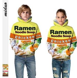 Sonbahar Kış Yeni Ürünler Sıcak Yemek Dijital Baskı Çocuk Kapşonlu Triko Avrupa Amerika Büyük Beden Uzun Kollu Kafa Çocuk clothin