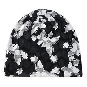 Aolikes Printed Flower Camping Mountaineering Floral Baggy Beanies Hats for Women Female Caps Beanies 3 Colors