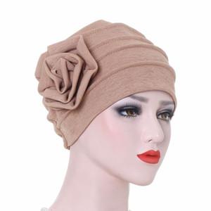 Muslim Mode Damen Hijabs Blume Muslim islamischen Hijab Inner Caps Beanie Mütze Schlaf-Turban-Hut Caps Bonnet