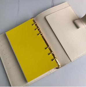 Atacado Notebook e agenda da mulher bolso de couro genuíno carteira de cartão de Designer de Moda Lazer Men Retail notecase com saco de pó Box