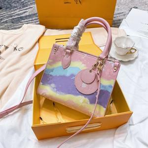 Nuova borsa di 2020 donna singola di spalla delle donne della donna della benna Worn Vera Pelle Borsa e Messenger Bag Vintage Tote di Totes delle ragazze di lusso