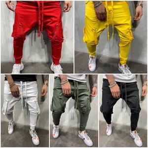 Men's trousers outdoor casual pants hip hop street jogging sports pants tight elastic waist casual pants