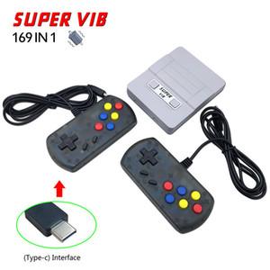 Vibração Mini console de jogos portátil pode armazenar 169 jogos Super VIB console de videogame portátil dual gampad handheld game player Free DHL